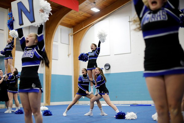 WRHS Cheerleading Practice for Nationals-010919