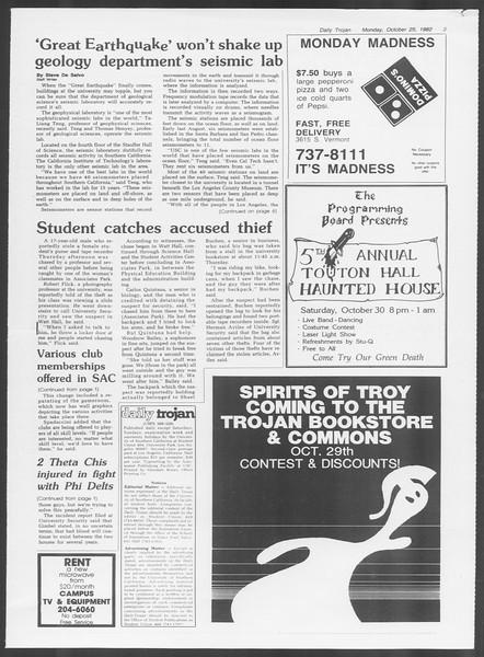 Daily Trojan, Vol. 92, No. 34, October 25, 1982