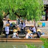 Boating in Kurashiki - a preserved Edo Period merchantile town - Japan