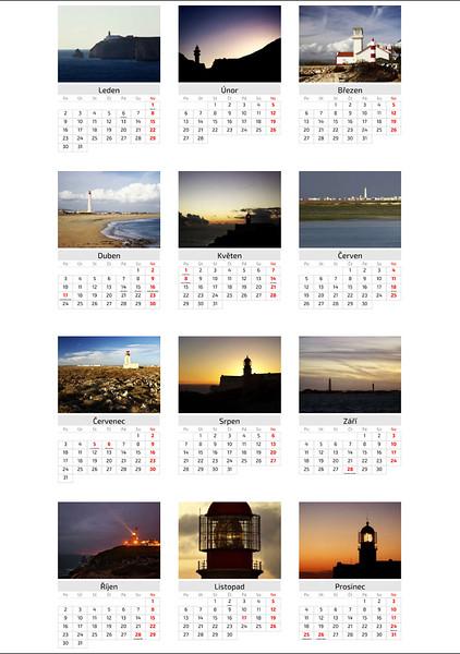Kalendář Majáky 2017 / Lighthouses 2017 Calendar