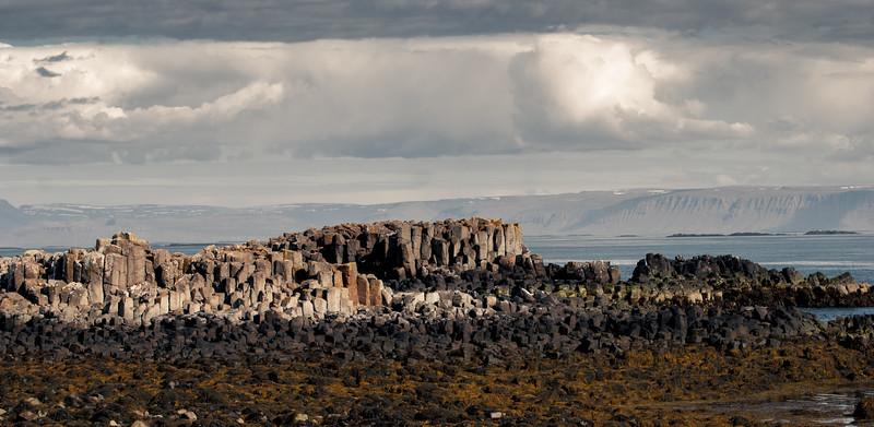Basalt Formation on Flatey Island