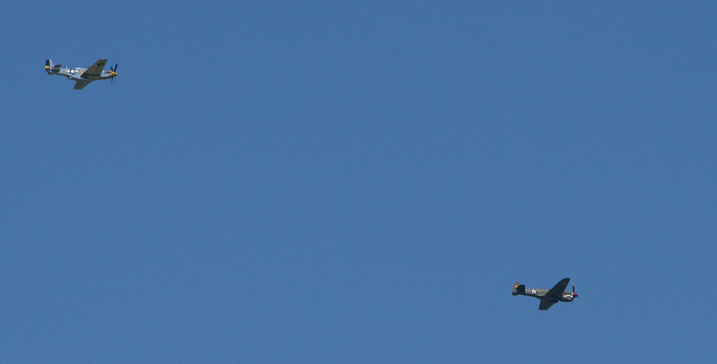 Aircraft flew in during the day - interesting airplanes.