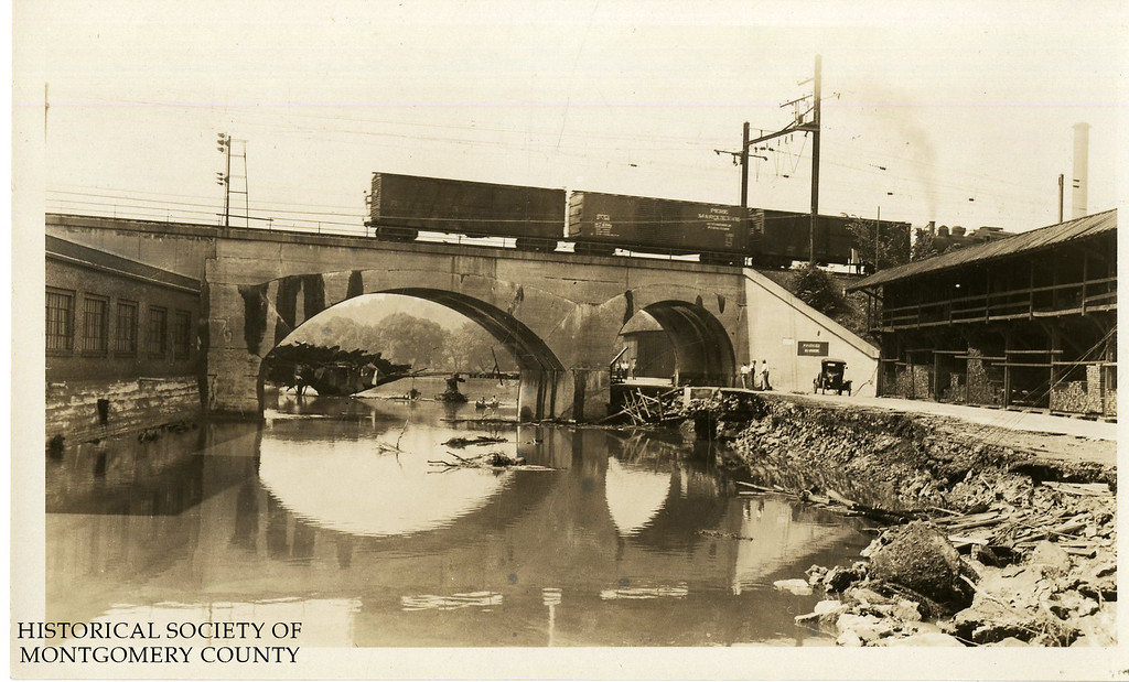 . This photo from the Historical Society of Montgomery County shows flooding in 1933. The location is not known.