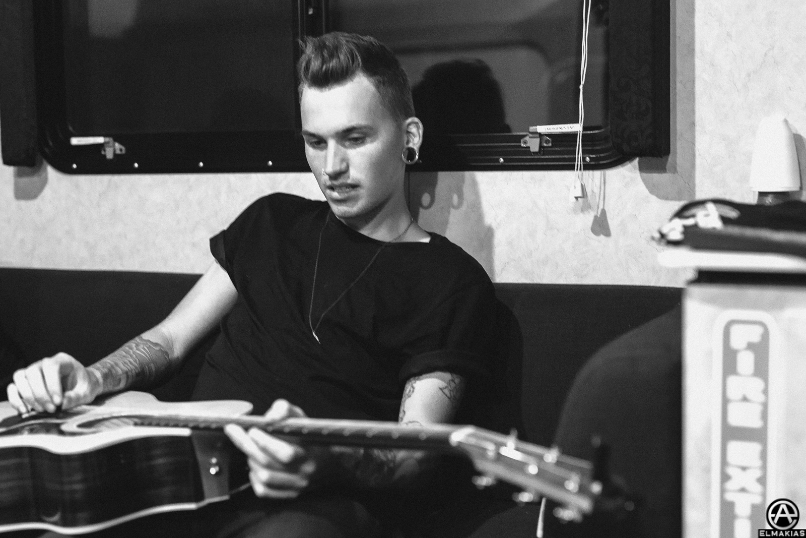 Alex Babinski of PVRIS at Vans Warped Tour 2015 by Adam Elmakias
