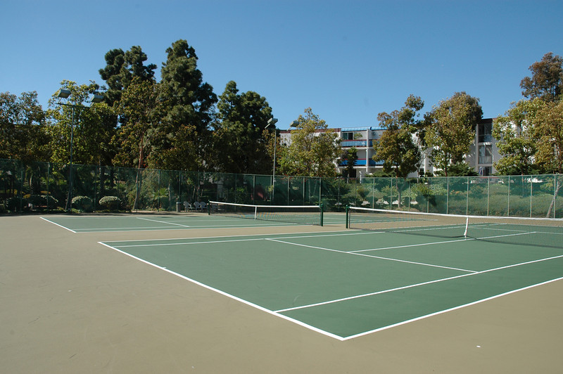 Tennis court is equipped with lighting for night games...play on your schedule...