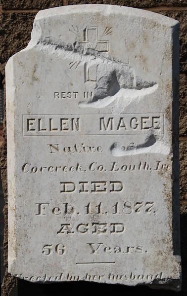 1877, Ellen Magee Tombstone