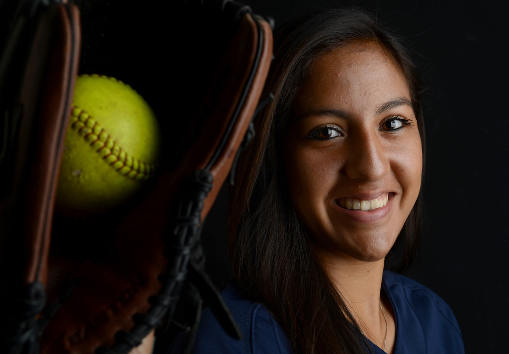 . Zoe Casas has been named Player of the Year to The Sun\'s All-Area softball team. Casas plays softball for Aquinas High School. Jenn Maher staff photo The Sun.
