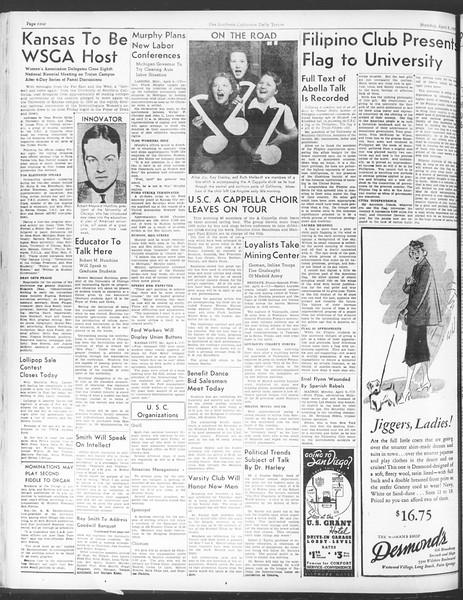 Daily Trojan, Vol. 28, No. 108, April 05, 1937