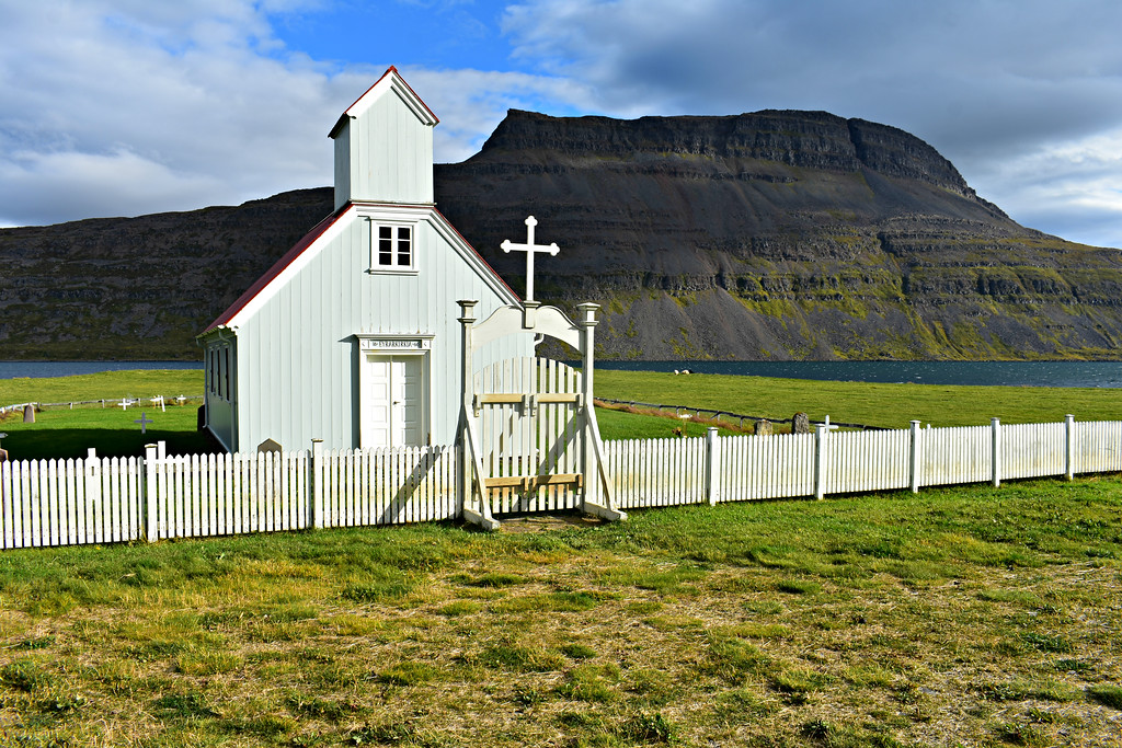 Eyrarkirkja in West Fjords Iceland