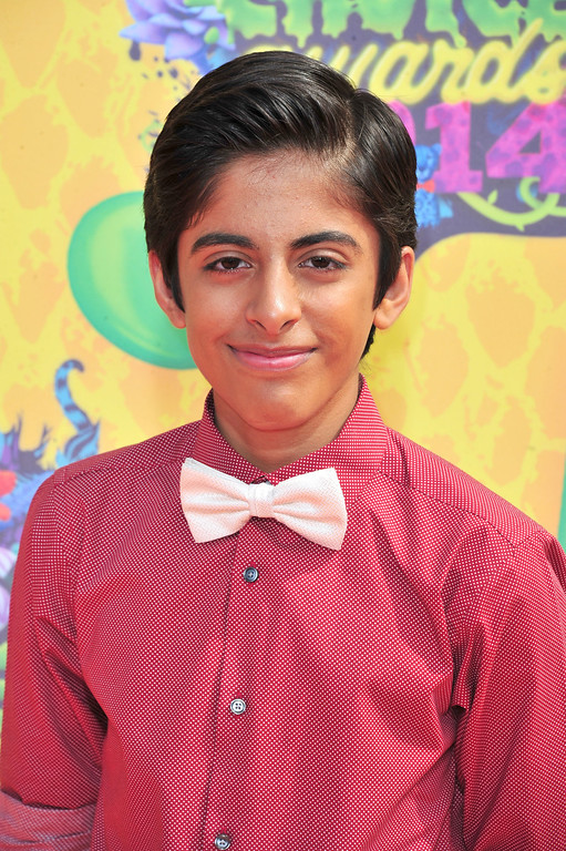 . Actor Karan Brar attends Nickelodeon\'s 27th Annual Kids\' Choice Awards held at USC Galen Center on March 29, 2014 in Los Angeles, California.  (Photo by Frazer Harrison/Getty Images)