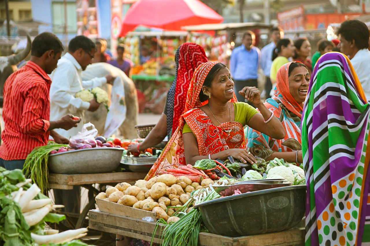 Ahmedabad India market