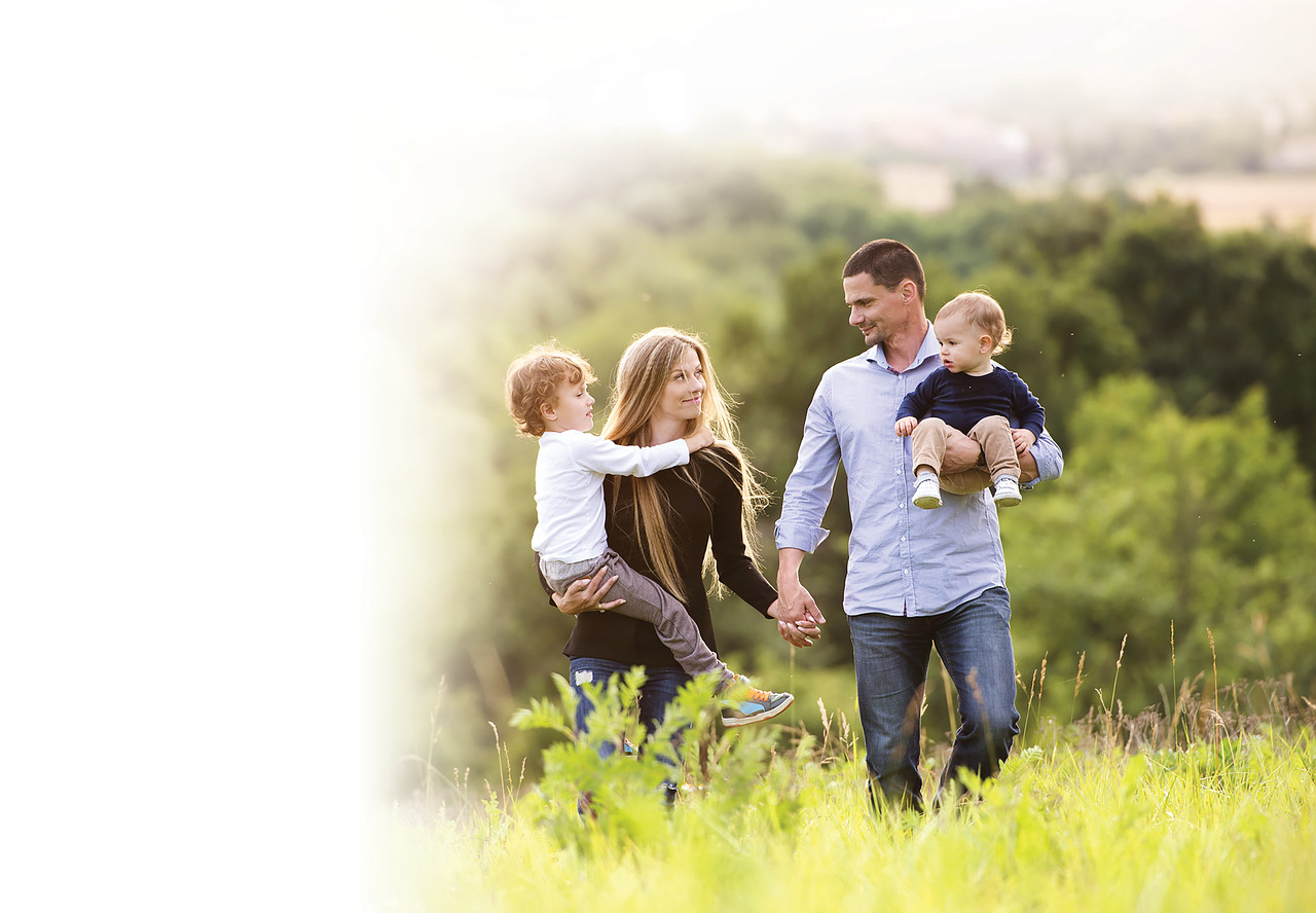 //www.dreamstime.com/stock-photos-happy-family-young-spending-time-together-outside-green-nature-image49455183