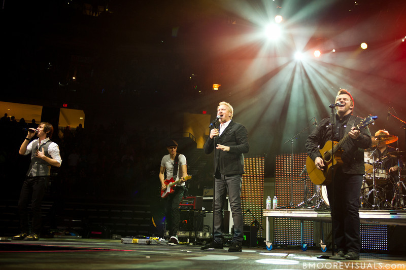 Matt Butler, Rico Thomas, Eddie Carswell, and Russ Lee of Newsong perform on January 14, 2012 during Winter Jam at Tampa Bay Times Forum in Tampa, Florida