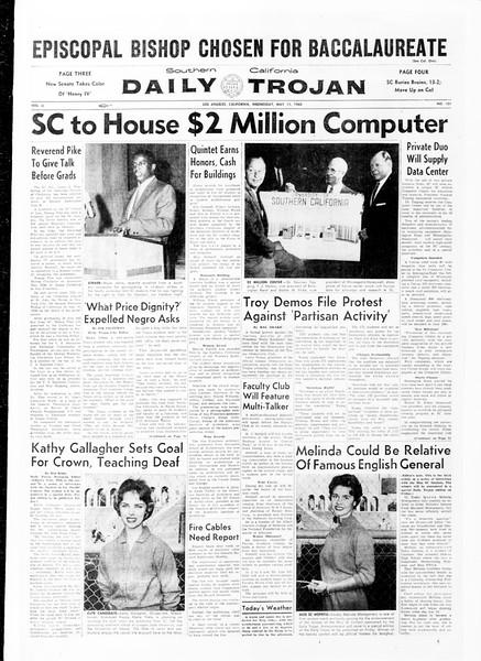 Daily Trojan, Vol. 51, No. 121, May 11, 1960