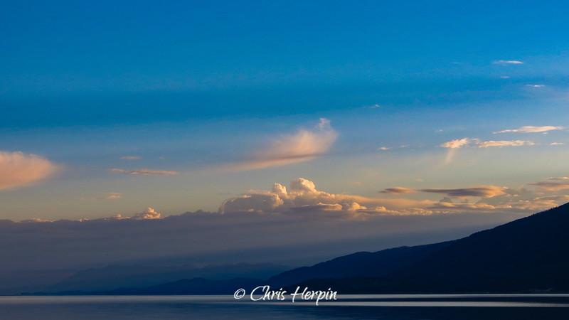 Sunrise on Flathead Lake, Montana