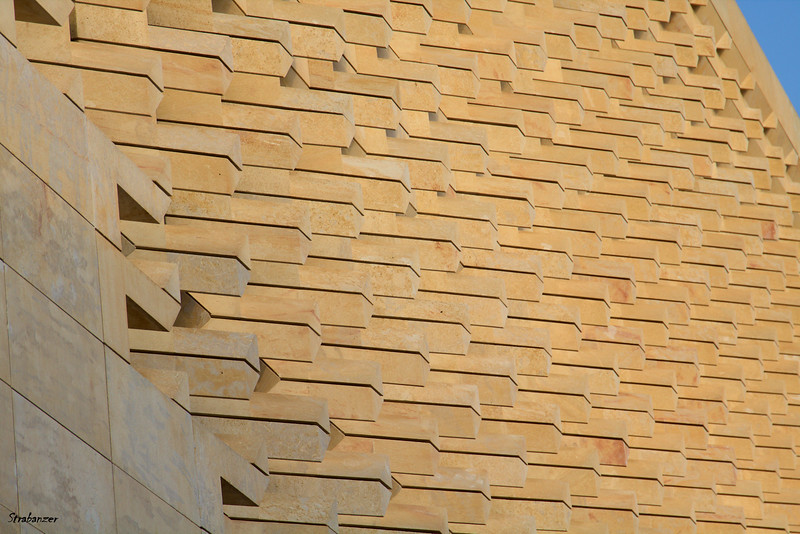 Valletta, Malta.     Details of New Parliament building.