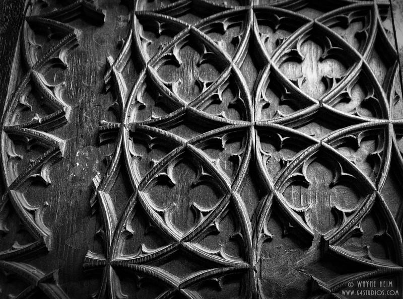 Lattice Work    Black and White  Photography by Wayne Heim