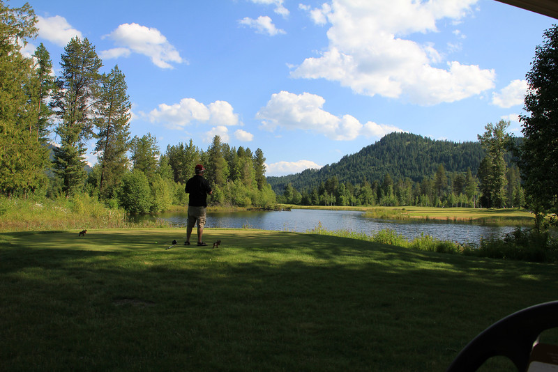 The Idaho Club, Sandpoint, ID - Hole #15.  Me trying to decide how brave I am