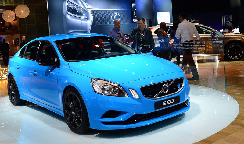 . Volvo\'s S60 is displayed on media preview day at the Los Angeles Auto Show on November 28, 2012 in Los Angeles, California. The show opens to the public from November 30 to December 9. AFP PHOTO / Frederic J. BROWN/AFP/Getty Images