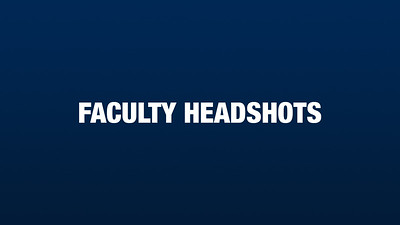 Faculty Headshots