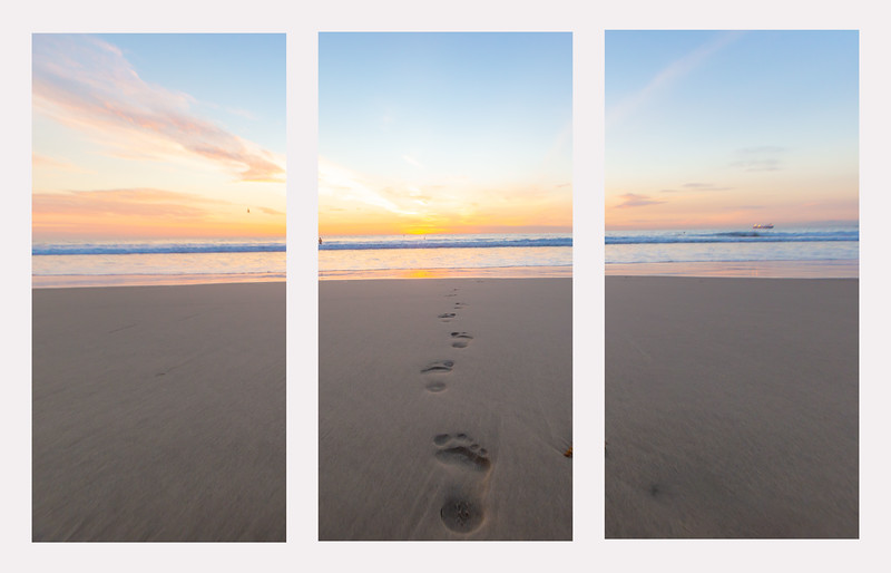 triptych footsteps yellow sunset.jpg