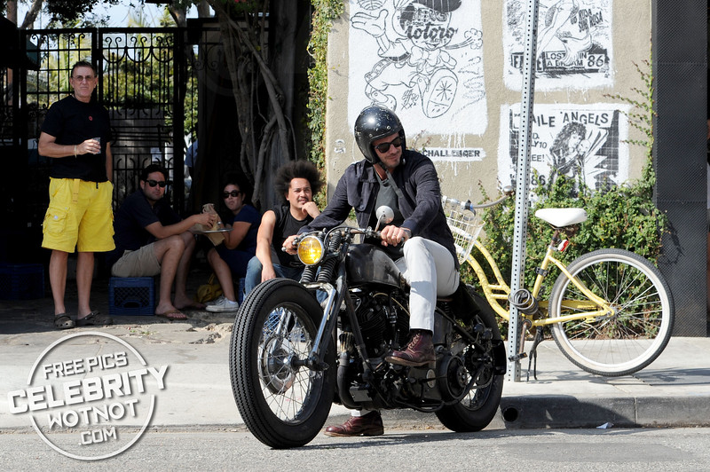 Easy Rider! David Beckham On Custom Vintage Motorbike
