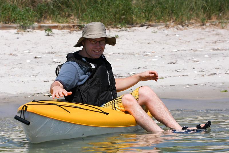 Kayaking off Road I, Hampton Bays, NY.