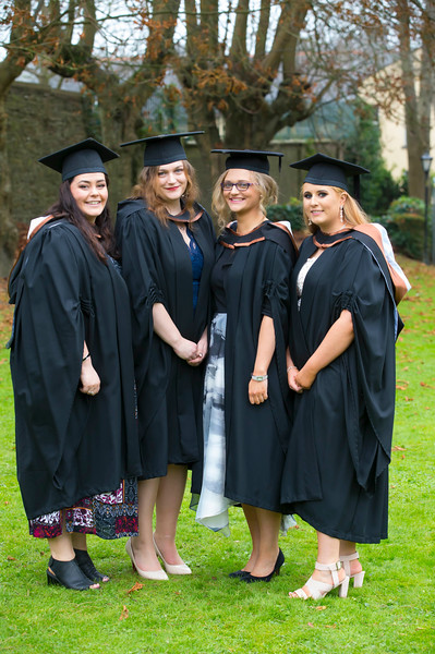 03/11/2017. Waterford Institute of Technology Conferring are Elaine Ormonde Cappoquin, Blanaid Fanning-Ironside, Nicola Sherlock Abbeyleix, Niamh Mcardle Johnstown, Naas. Picture: Patrick Browne.