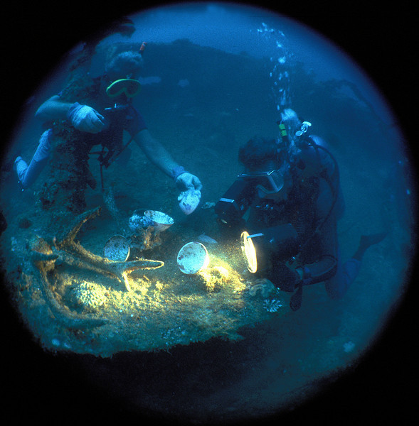 Harry and Keith, Nippo Maru, Truk Lagoon, 1983