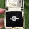 2.03ct Emerald Cut Diamond Ring, GIA K IF 9