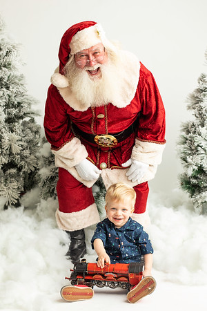 Owen and Santa 2019