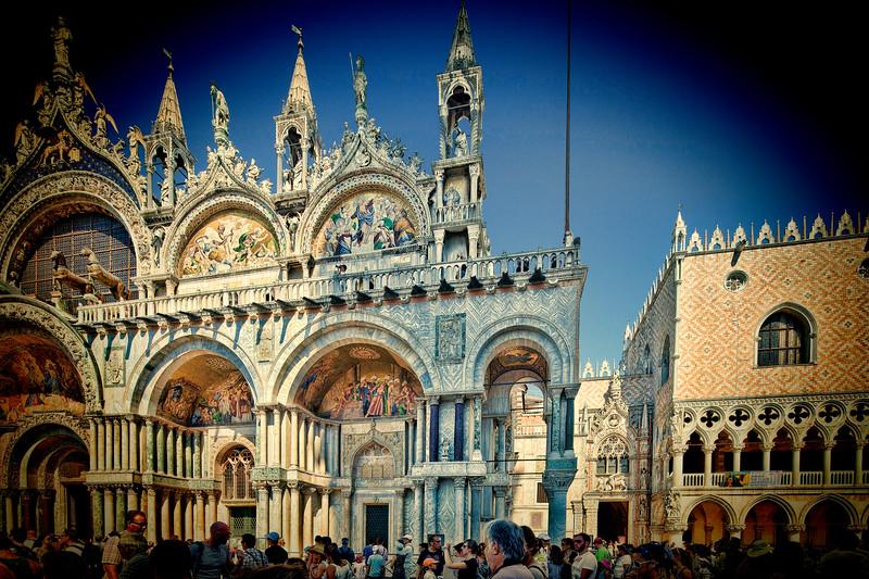 Facade of San Marco Basilica, Venice, Italy