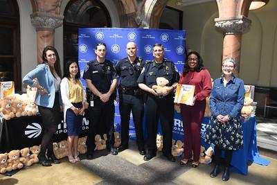 Mayor accepts Books & Bears donation. 5/30/2017