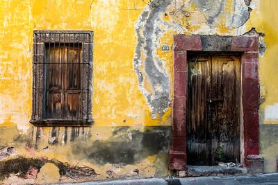 Weathered facade, San Miguel de Allende, Mexico