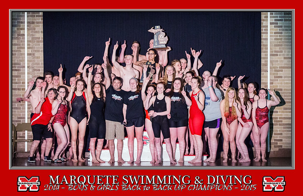 UP Swimming and Diving Championship Awards - 02/21/15