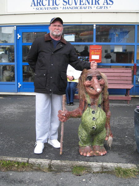 DRB with the troll at Honningsvag