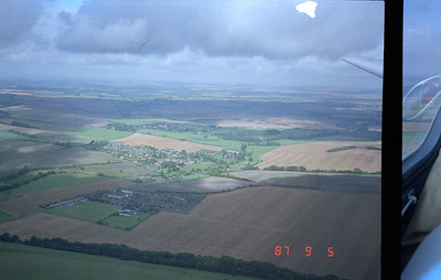 Gliding over the Salisbury countryside.