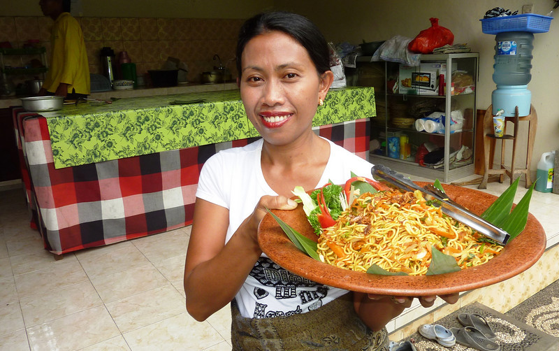home of Bali Bikes owner, one of the best meals in Laplapan