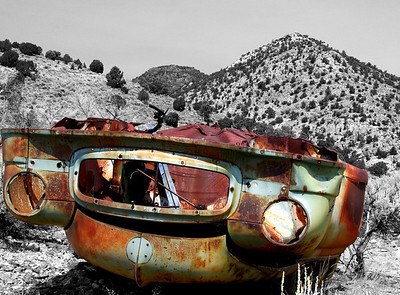 Old cars left behind rustic photos