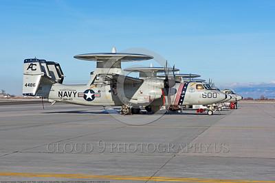 U.S. Navy Grumman E-2 Hawkeye Airborne Radar Aircraft CAG [Commander Air Group] Military Airplane Pictures