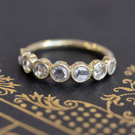 .65ctw 7-stone Rose Cut Diamond Band
