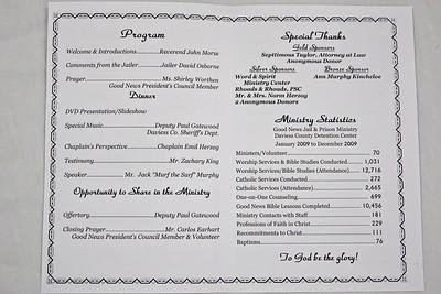 Good News Jail & Prison Ministry 2010 Banquet