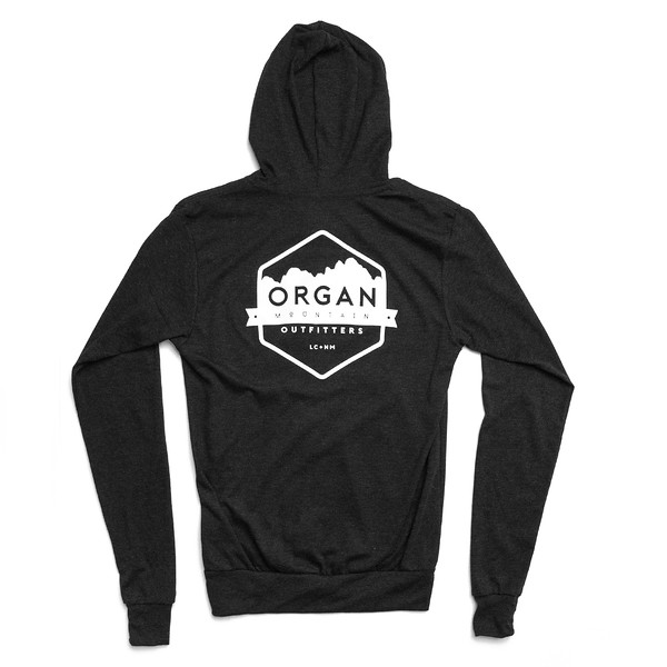 Organ Mountain Outfitters - Outdoor Apparel - Sweater - Classic Lightweight Zip Up Hoodie - Black Back.jpg