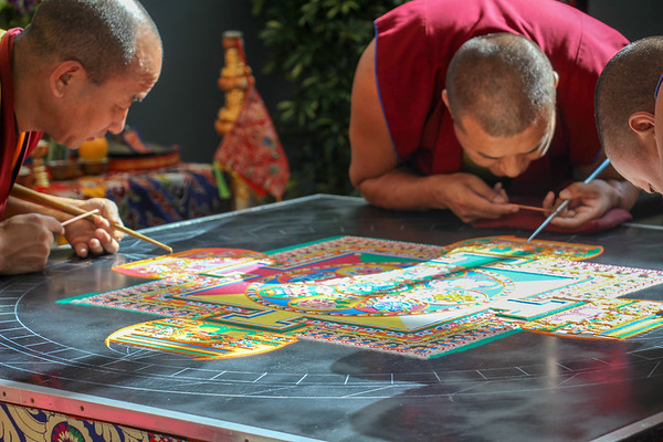 "Art Classes Visit UNCA for the ""Mystical Arts of Tibet,"" Weeklong Residency by Monks of the Drepung Loseling Monastery"