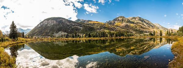 Panorama of  Marble Lake, CO