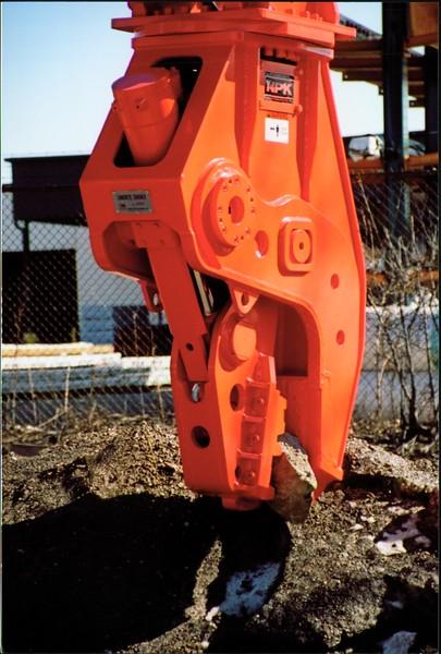NPK U21J concrete pulverizer on Cat excavator at Carr Bros (5).JPG