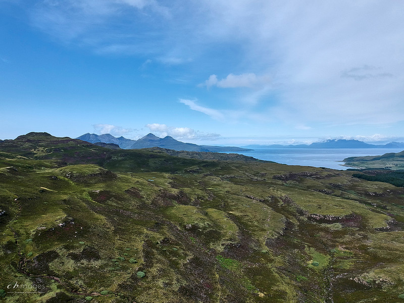 Rhum and north from overhead Eigg