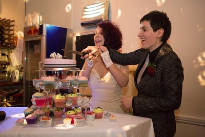 Beth and Moira's civil partnership