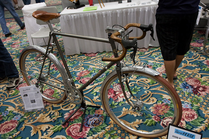 """Herse was a revered French builder from the mid-Twentieth Century.  Mark Nobilette now builds bikes for the reborn company, with a focus on """"complete"""" bikes - designed for racks, fenders, lights, etc."""