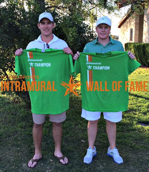 Burnt Orange Scramble Golf Tournament  Champion  Patrick Gould, Brett Buzbee
